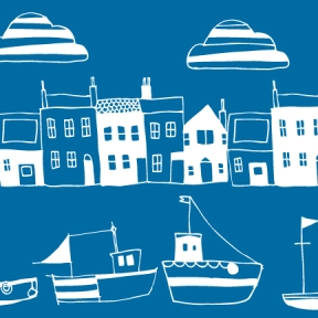 Howth-Houses-Blue-white-CARD-2